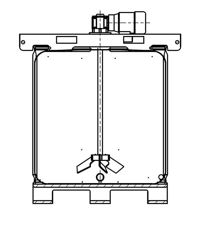 IBC drawing agitator Rührwerk
