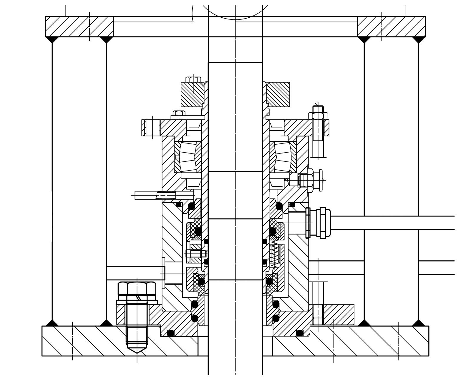 mediumsgeschmirte Doppeltwirkende Gleitringdichtung mit integrierter Lagerung